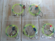 Sea fishing Rigs x 5: Pulleys Pennels - GOOD DEPENDABLE QUALITY SEA RIGS