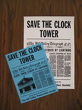 """Back to the Future - Save the Clock Tower Flyer 8.5""""x11"""" and poster 11""""x15.5"""""""