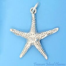 STARFISH OCEAN SEA STAR FISH 3D .925 Solid Sterling Silver Charm Pendant