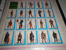 "AJMAN 1972 ""MILITARY UNIFORMS"" MNH** BLOCK (CAT.3)"