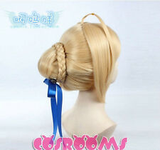 Fate stay night Saber Anime Cosplay Costume Wig
