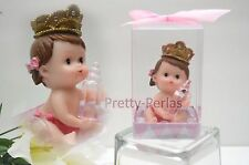 12PC Baby Shower Party Favors Figurines Girl Pink Recuerdos De Nina Decorations