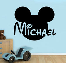 Personalized Name Wall Decal Mickey Mouse Vinyl Sticker Custom Art Decor 13(nse)