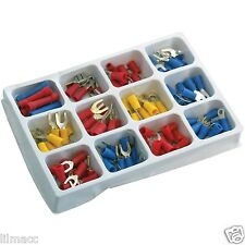100Pcs ASSORTED INSULATED ELECTRICAL WIRE TERMINALS CRIMP CONNECTORS SPADE SET