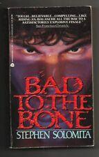 Vintage 1991 Bad to the Bone Stephen Solomita Paperback Book Thriller