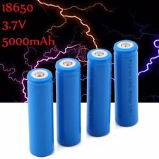 4Pcs 5000mAh 3.7V 18650 Li-ion Rechargeable Battery for LED Torch Flashlight Top