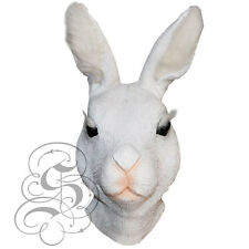 Latex Full Head Animal White Rabbit Hare High Quality Fancy Props Carnival Masks