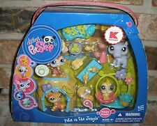 Littlest Pet Shop Store Exclusive PETS IN THE JUNGLE TIGER 1451 hippo+ 2009 RARE