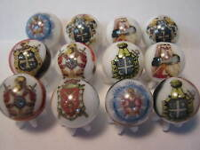 ORDER OF THE DEMOLAY MASONS GLASS MARBLES 5/8 SIZE collection lot + STANDS
