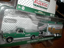 GREENLIGHT 1/64 HITCH & TOW SERIES 4 1968 CHEVROLET C10 WITH CONCESSION TRAILER