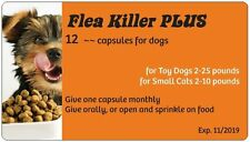 Flea Killer PLUS Dogs 2-24 lbs. 12 Orange Caps, full year supply for 1 dog