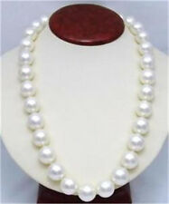 """14mm AAA White South Sea Shell Pearl Round Beads Necklace 25"""" LL001"""