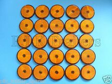 FREE P+P* 50 x AMBER Screw on 60mm Round Reflectors - Trailers & Horse Box