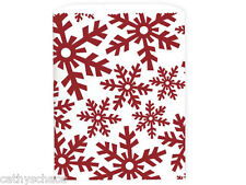 100 White Kraft Paper Red Snowflakes Frozen Cookie Bags Sacks Winter Holiday