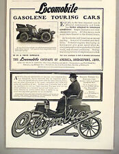 Locomobile & Columbia Electric Car PRINT AD - 1904