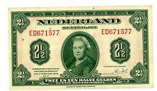 Netherlands … P-65 … 2  1/2 Gulden … 1943 … *VF+*