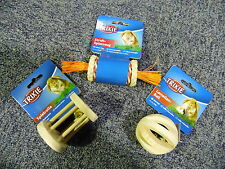 New - Trixie Pack Of 3 Rabbit Guinea Small Pet Cage Toys 6188-6184-6187