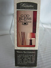 Decorative Expressions Vinyl Wall Art Saying God Bless Our Home New in box