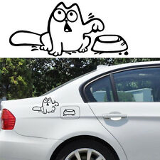 "Funny Cat ""Feed Me"" Vinyl Sticker Wall Laptop Car Fuel Tank Vehicle Auto Decal"