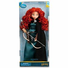 "Disney Store Exclusive Classic 11"" Brave Princess Merida Doll - Bow & Arrow MIB"