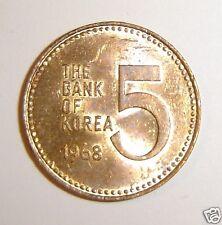 1968 SOUTH KOREA COIN 5 WON