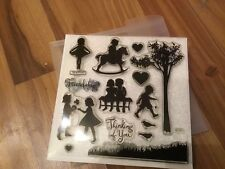 NEW clear acrylic stamp set D1373 Childhoot portrait CTMH (Close to my heart)