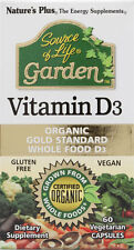Nature's Plus Source of Life, Garden, Vitamin D3 - Certified Organic - 60 Vcaps