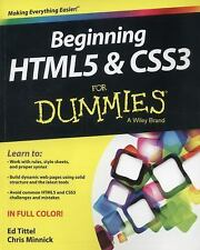 Beginning Html5 and Css3 for Dummies by Ed Tittel Paperback Book (English)