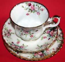 "ROYAL ALBERT fine bone china  ""Cottage Garden"" pat. - TRIO Cup, Saucer & Plate"