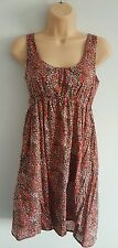 NEW LOOK Womens brown & pink ditsy floral pattern dress size 10