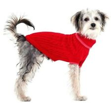 New Cable Knit Dog Sweater Pet Sweater Red Small
