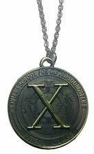"Marvel Comics X-MEN FIRST CLASS Pendant Necklace On 20"" Bronze Tone Chain"