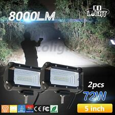 Pair 5'' INCH Osram LED Work Light Bar Flood Lamp Pods Cube Boat Off-roads Jeep