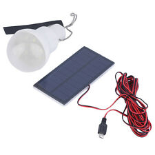 Portable Solar Power LED Bulb Lamp Outdoor Lighting Camp Tent Fishing Light WA