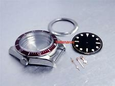 HR HERITAGE BLACK BAY WATCH CASE KIT SET with Red insert for ETA 2824-2 MOVEMENT