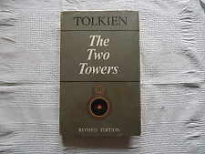 The Two Towers By Tolkien with DJ and Map Revised Edition 1970