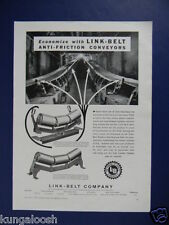 1937 ECONOMIZE WITH LINK-BELT ANTI-FRICTION CONVEYORS MINING SALES EQUIPMENT AD