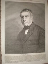 George Biddell Airy Astronomer Royal 1868 old print ref Z1