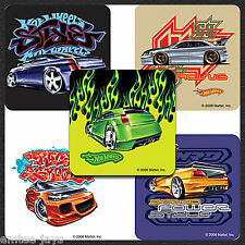 Hot Wheels Street Stickers x 5 - Birthday Favours - Hot Cars/Racing - Party Bag