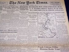 1944 JANUARY 6 NEW YORK TIMES - RUSSIANS WIN UKRAINE RAIL HUB - NT 2589