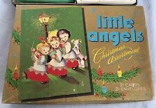 Box of 21 Vintage Christmas Cards Little Angels Reproducta Co KS 380 Unused