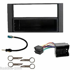 FORD TRANSIT 2006 ONWARDS BLACK SINGLE or DOUBLE DIN FITTING KIT ADAPTOR FASCIA