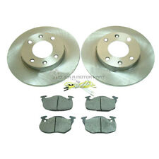 PEUGEOT 106 306 FRONT 2 BRAKE DISCS AND PADS 1.1 1.4 1.5D 4 STUD CHECK SIZE