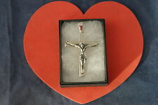 Beautiful And Solid 925 Silver Cross 13 Grams 6.4 x 4.5 Cm. Wide In Display Box