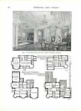 1906 Sandy Hills Golf Club Pavilion Gourock Yacht Club House Drawing-room Jarvis