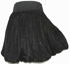 L Cute Black Puffy Cosplay Emo Gothic Goth Lolita Steam Punk Bubble Mini Skirt