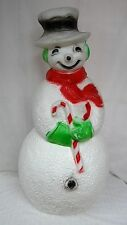 "40"" Union Snowman Red Scarf Lighted Christmas Blow Mold Outdoor Yard Decor"