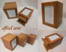 80 Ci. PHOTO FRAME GORGEOUS CREMATION URNS,OAK FINISH,Retail$89.00