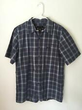 Calvin Klein Jeans men's blue short sleeve collared button down up t tee shirt M