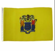 "12x18 12""x18"" State of New Jersey Sleeve Flag Boat Car Garden"
